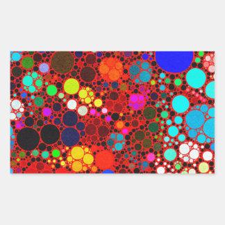 Teste padrão abstrato corajoso fluorescente Bling Adesivo Retangular