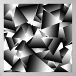 Teste padrão abstrato da forma dos triângulos do M Impressão