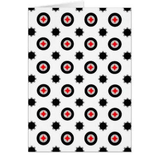 teste padrão abstrato da geometria cartão comemorativo