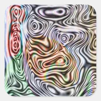 Teste padrão abstrato diferente adesivo quadrado