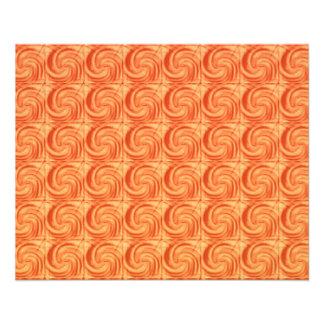Teste padrão abstrato dos círculos da laranja panfleto coloridos