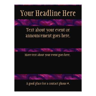 Teste padrão abstrato dos fãs roxos bonito panfleto coloridos