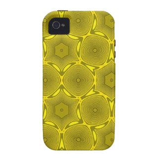 Teste padrão abstrato na moda amarelo