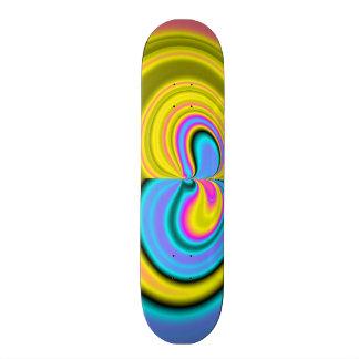Teste padrão abstrato original shape de skate 20,6cm