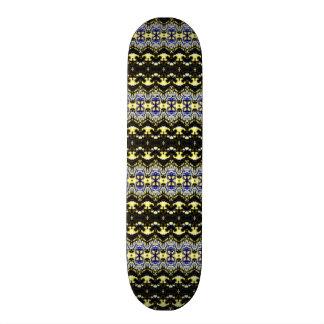 Teste padrão abstrato original shape de skate 19,7cm