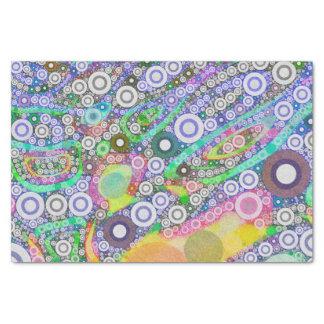 Teste padrão abstrato retro do círculo papel de seda