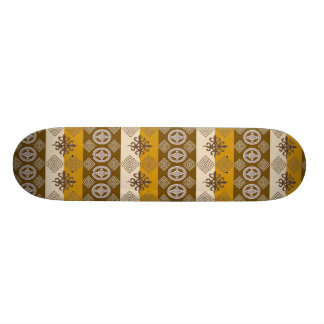 Teste padrão africano étnico com simbols de shape de skate 18,1cm