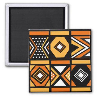 Teste padrão africano ímã quadrado