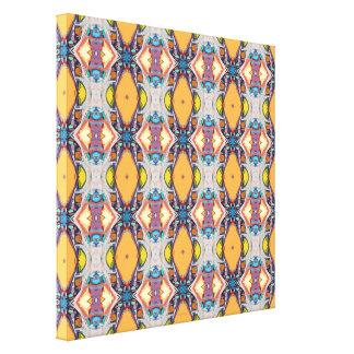 Teste padrão alaranjado abstrato impressão em tela canvas