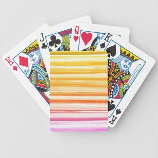 Teste padrão alaranjado cor-de-rosa de Ombre da Baralhos De Poker