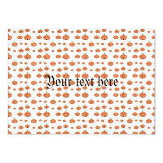 Teste padrão alaranjado da abóbora convite 12.7 x 17.78cm