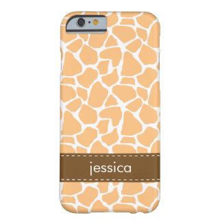 Teste padrão alaranjado do girafa capa barely there para iPhone 6