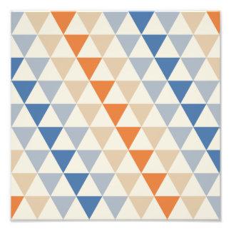Teste padrão alaranjado e branco azul de contraste foto arte