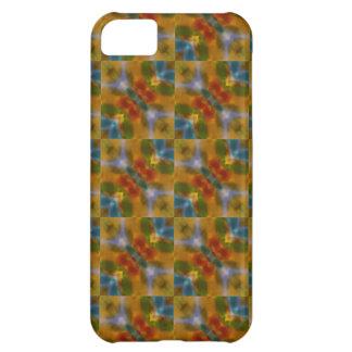 Teste padrão amarelo alaranjado da arte abstracta capa para iPhone 5C