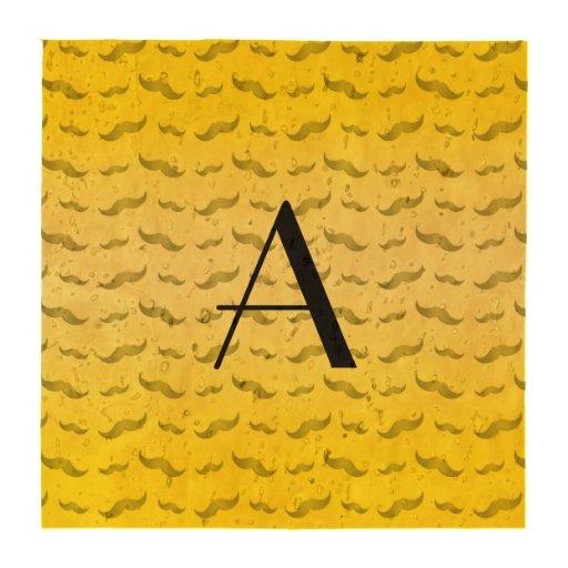 Teste padrão amarelo brilhante do bigode do porta copos
