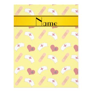 Teste padrão amarelo conhecido personalizado da panfletos personalizado