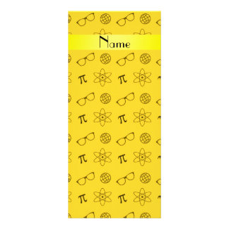 Teste padrão amarelo conhecido personalizado do ge 10.16 x 22.86cm panfleto