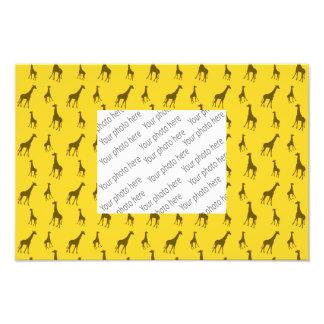 Teste padrão amarelo do girafa impressão de foto
