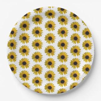 Teste padrão amarelo do girassol