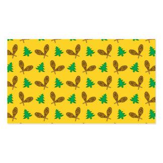 teste padrão amarelo do sapato de neve cartão de visita