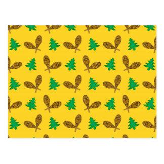 teste padrão amarelo do sapato de neve cartão postal
