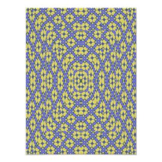 teste padrão amarelo e azul impressão de foto