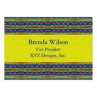 teste padrão amarelo e azul cartões de visita