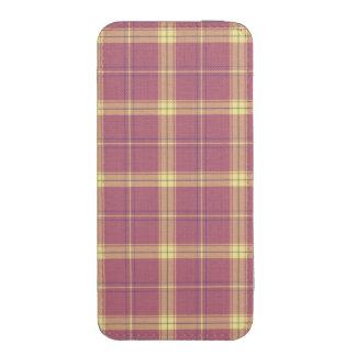 Teste padrão amarelo e malva da xadrez, original! bolsinha de celular