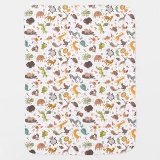 Teste padrão animal bonito do alfabeto manta de bebe