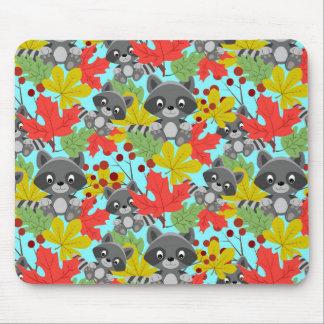 teste padrão animal do guaxinim mouse pad