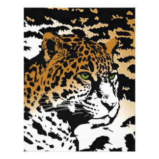 Teste padrão animal do impressão do gato de panter modelo de papel de carta