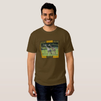 Teste padrão animal do safari com girafas tshirts