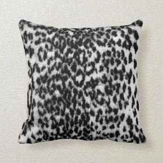 Teste padrão animal, impressionante, preto, branco almofada