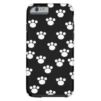 Teste padrão animal preto e branco da pata capa tough para iPhone 6
