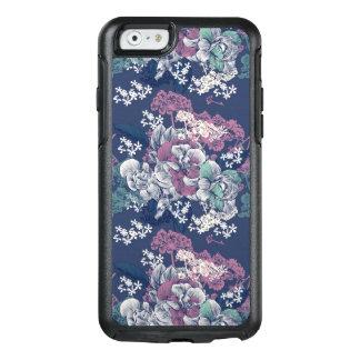Teste padrão artística do esboço floral roxo azul