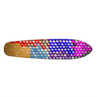 Teste padrão artístico da matriz de PONTO Shape De Skate 20,6cm