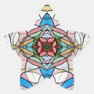 Teste padrão artístico raro bonito do vitral adesito estrela