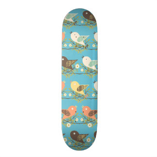 Teste padrão Assorted dos pássaros Shape De Skate 20,6cm