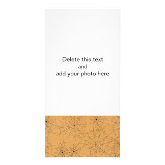 Teste padrão assustador das Web de aranha do Dia Cartão Com Foto