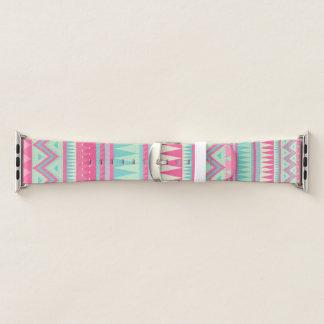 Teste padrão asteca bonito na banda de relógio de