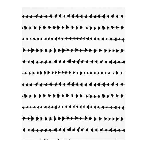 Teste padrão asteca branco preto das setas panfletos coloridos