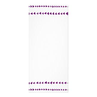 Teste padrão asteca branco roxo das setas modelo de panfleto informativo