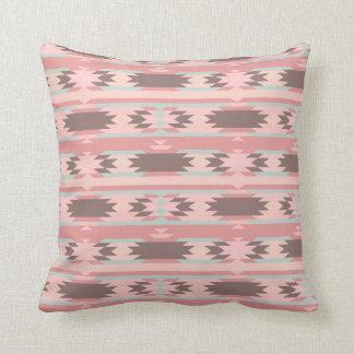Teste padrão asteca cor-de-rosa feminino travesseiros de decoração