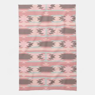 Teste padrão asteca cor-de-rosa feminino toalha