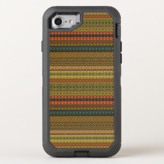 Teste padrão asteca tribal do vintage capa para iPhone 8/7 OtterBox defender