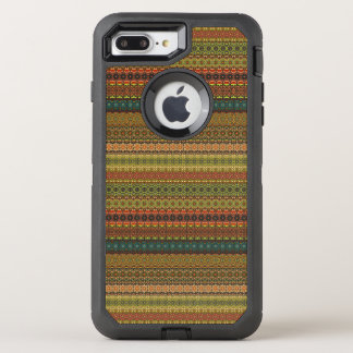 Teste padrão asteca tribal do vintage capa para iPhone 8 plus/7 plus OtterBox defender