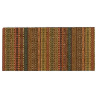 Teste padrão asteca tribal do vintage pen drive de madeira