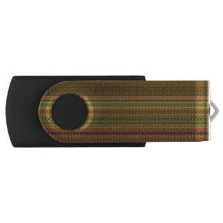 Teste padrão asteca tribal do vintage pen drive giratório