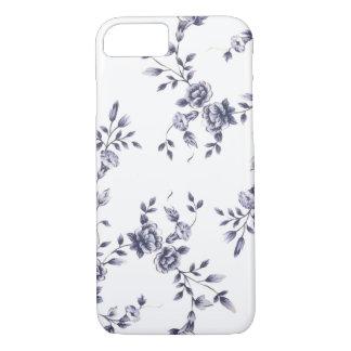 Teste padrão azul & branco da porcelana floral do capa iPhone 8/ 7