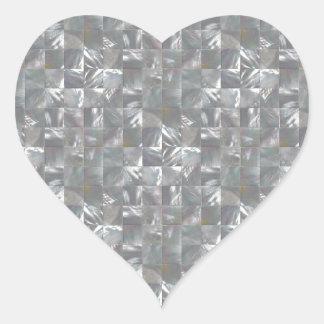 Teste padrão Azul-Cinzento do azulejo da Adesivo Coração